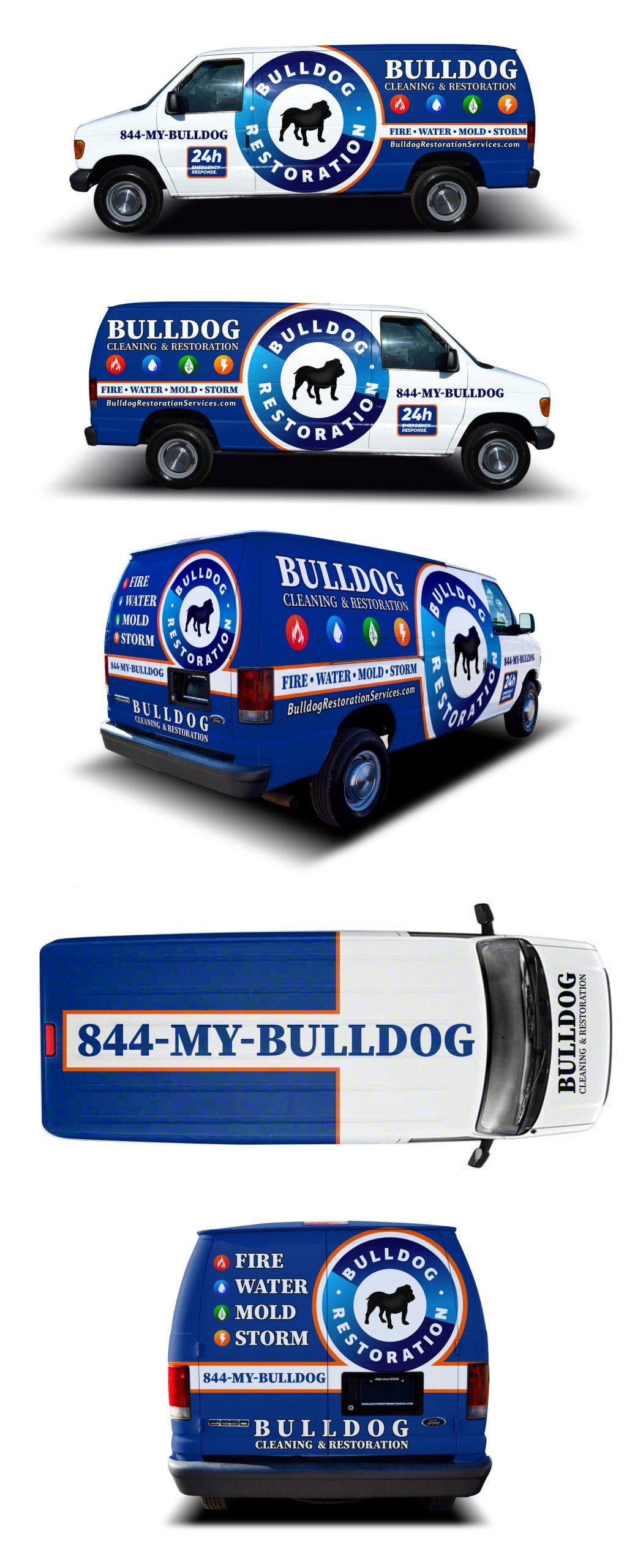 BullDog Cleaning Van Wrap