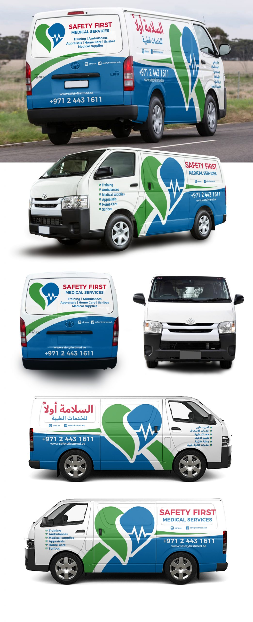 Safety First Medical Services wrap mockup