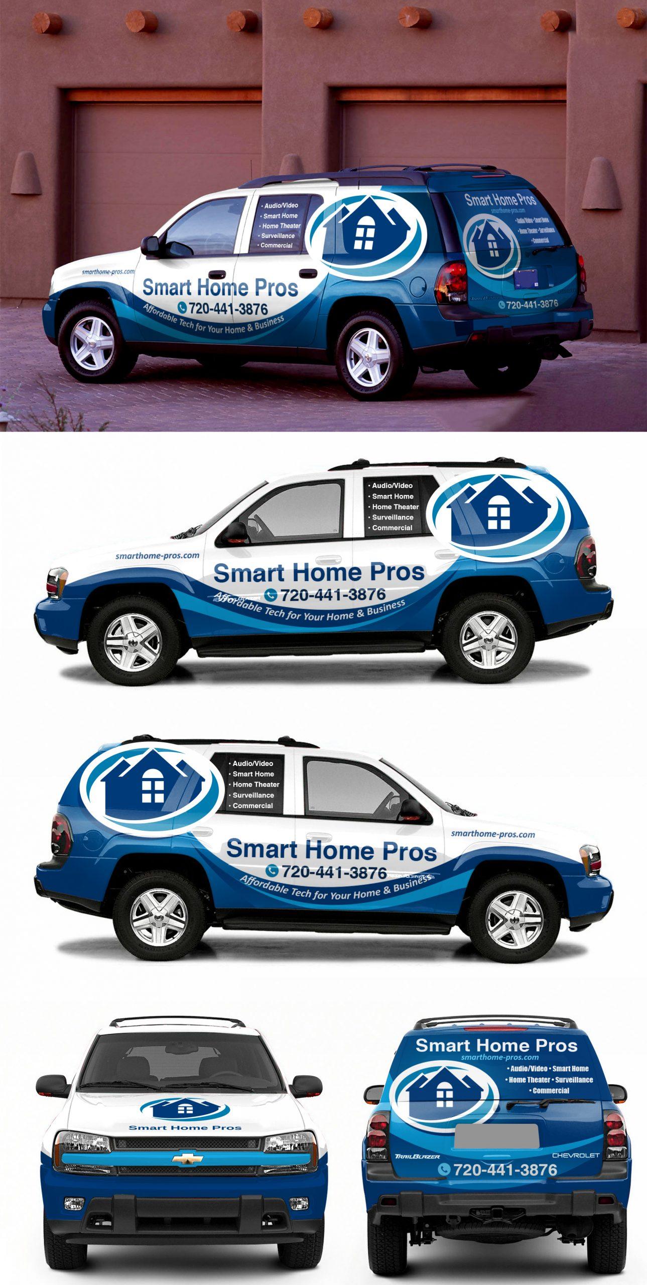 Smart Home Pros SUV mockup