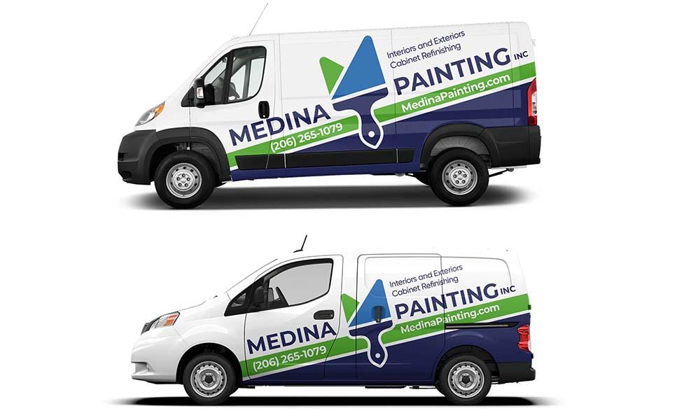 Medina Painting Vehicle wrap