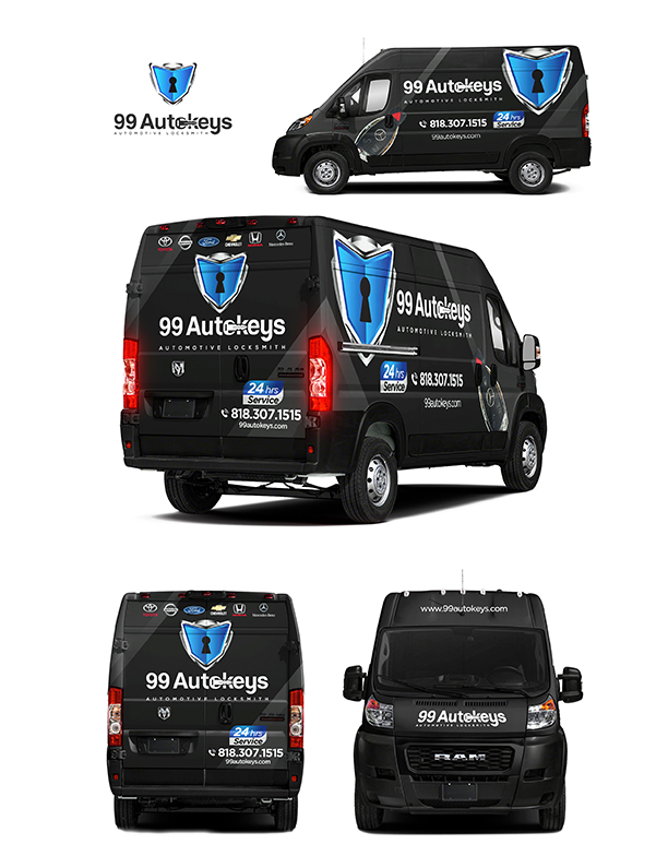 99 Autokeys vehicle wrap